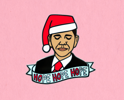 Hope Hope Hope enamel lapel pin
