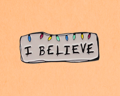 I Believe enamel lapel pin