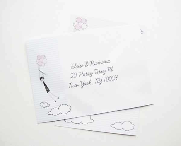 Printable Balloon stationery set