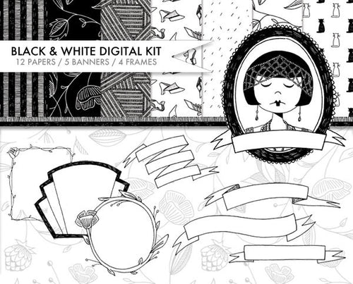 Black and White digital kit