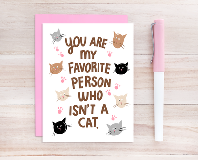 My favorite person greeting card