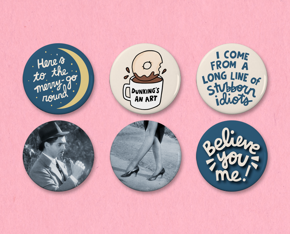 It Happened One Night button set