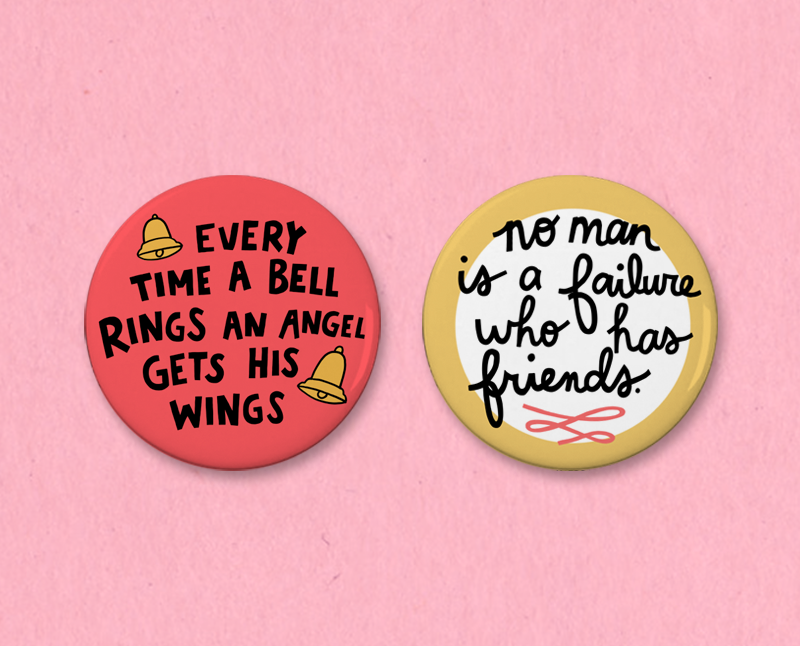 It's a Wonderful Life button set
