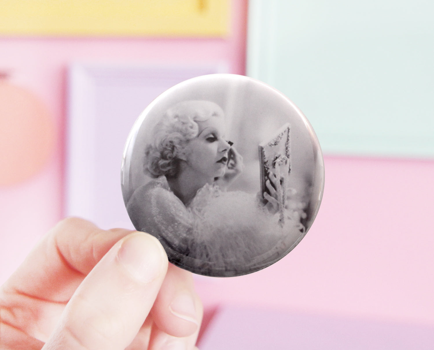 Jean Harlow pocket mirror