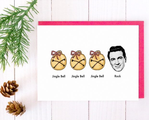 Jingle Bell Rock Hudson Christmas card set