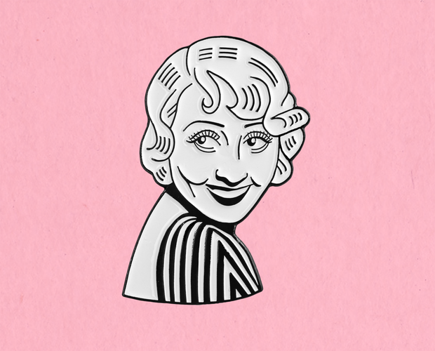 Joan Blondell enamel lapel pin
