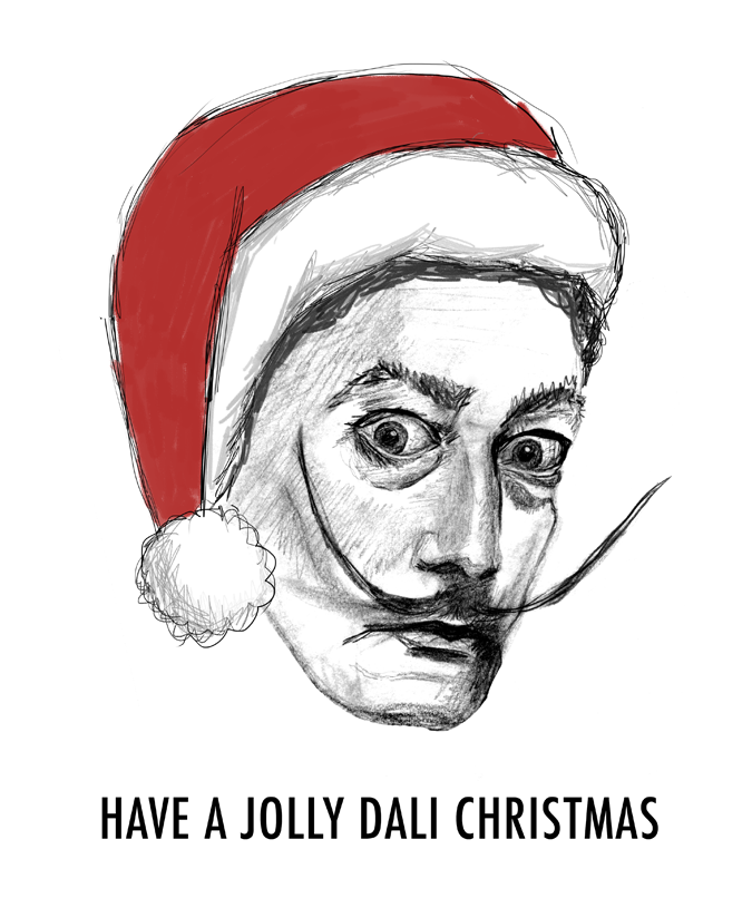 Have a Jolly Dali Christmas card set