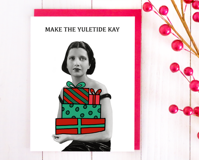 Make the Yuletide Kay Christmas card