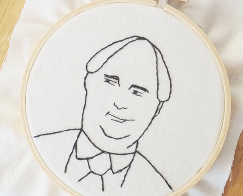 Kevin Malone embroidery pattern