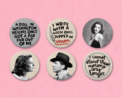 Laura button or magnet set