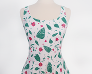Leaves Skater Dress