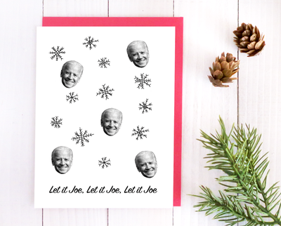 Let it Joe Christmas card