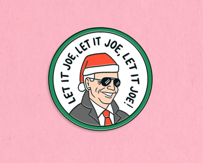 Let it Joe enamel lapel pin