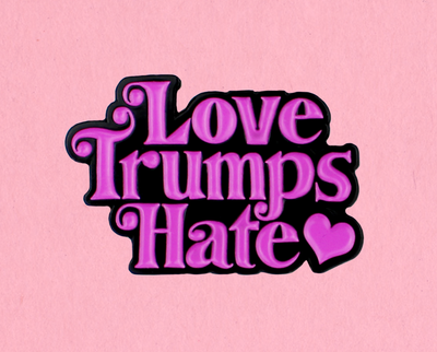 [Clearance] Love trumps hate enamel lapel pin
