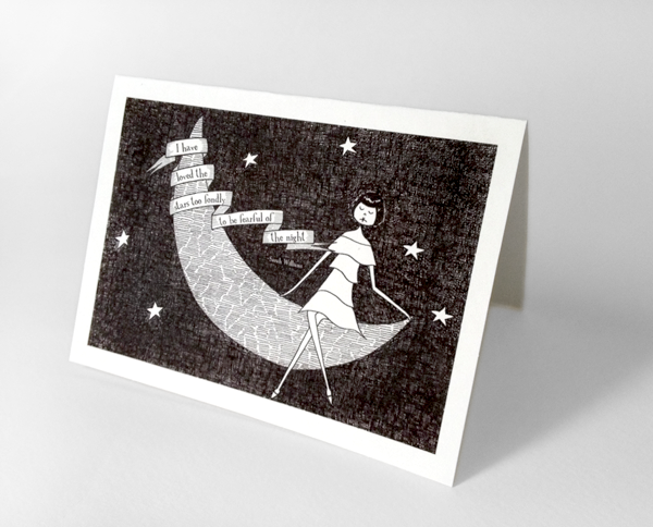 I have loved the stars too fondly note card set