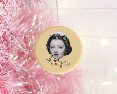 Loy to the World Christmas ornament