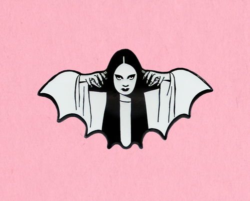 Glow in the dark Mark of the Vampire Luna enamel lapel pin