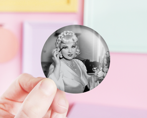Mae West pocket mirror