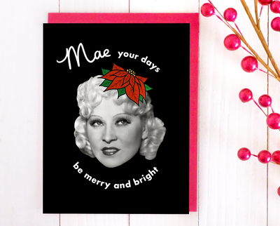 Mae your days be merry and bright Christmas card set