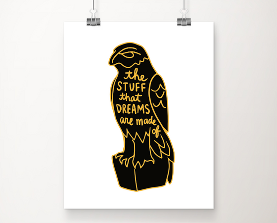 Maltese Falcon art print