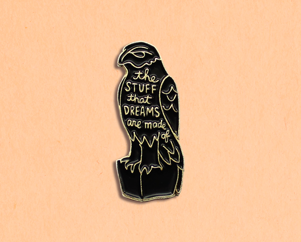 [Clearance] Maltese Falcon enamel lapel pin in gold