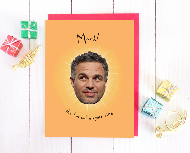 Mark! The Herald Angels Sing Christmas card