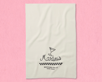 Martini's tea towel