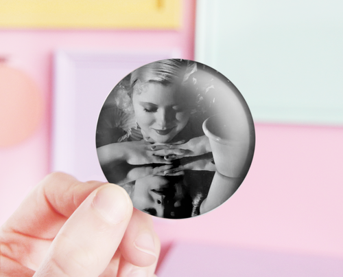 Mary Carlisle pocket mirror