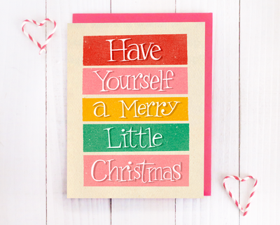 Merry little Christmas card set