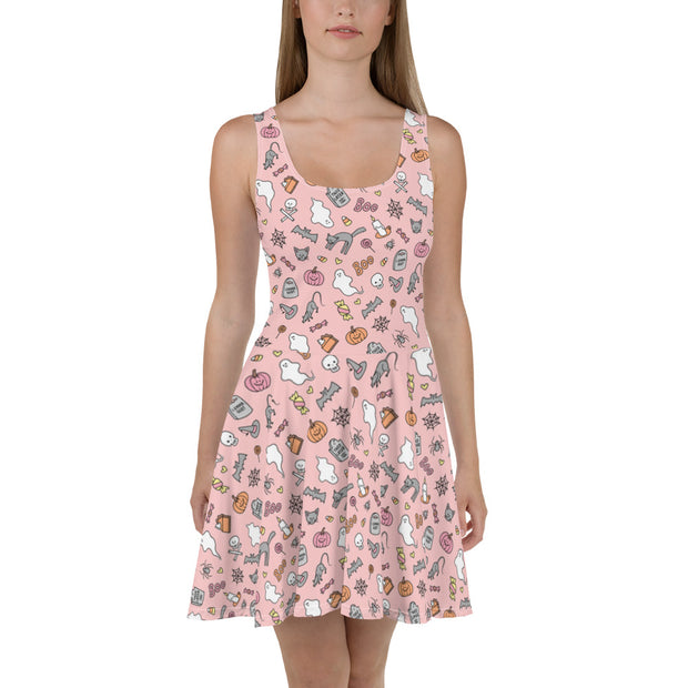 Pastel Halloween skater dress