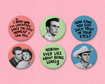 Montgomery Clift button or magnet set