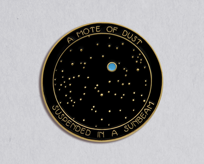 Pale Blue Dot enamel lapel pin