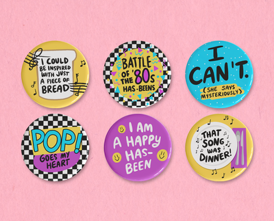 Music and Lyrics button set