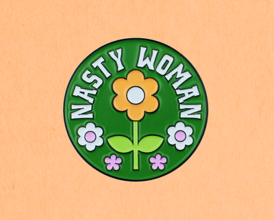 [Clearance] Nasty Woman enamel lapel pin