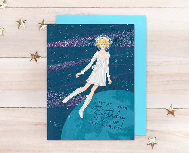 Out of this world Birthday greeting card
