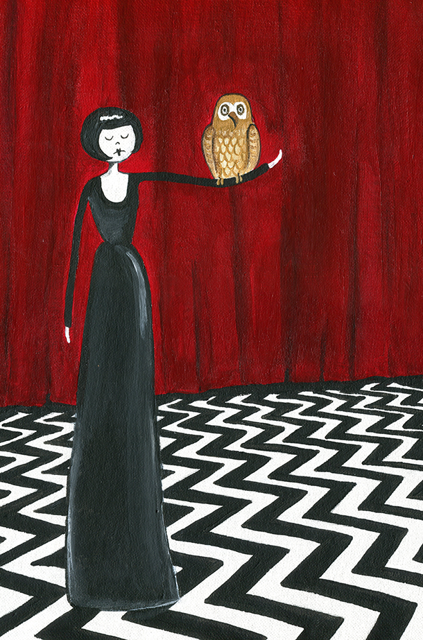 The owls are not what they seem art print