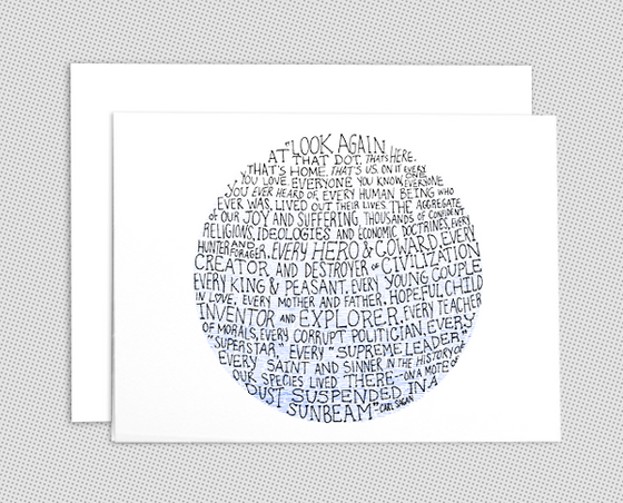 Pale Blue Dot note card set