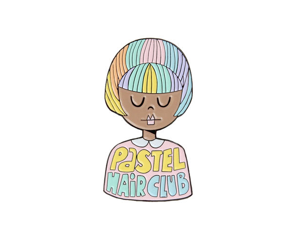 [Clearance] Pastel hair club enamel lapel pin