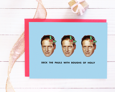 Deck the Pauls Christmas card - Paul Newman