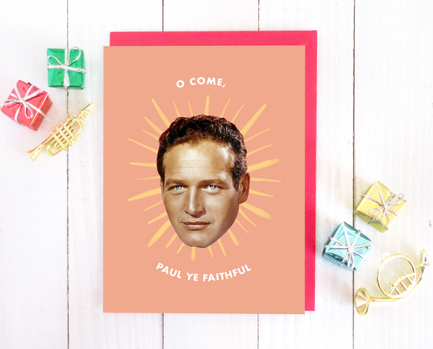 O Come, Paul Ye Faithful Christmas card