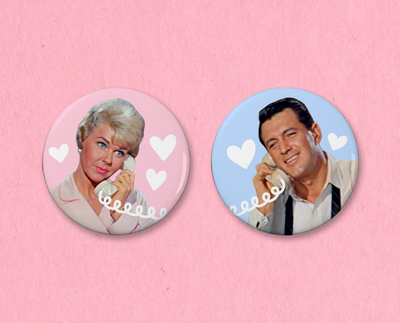 Pillow Talk button or magnet set