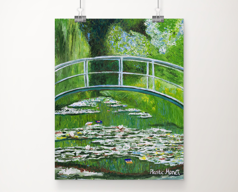 Plastic Monet art print