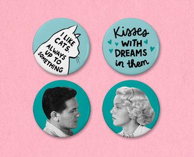The Postman Always Rings Twice button set