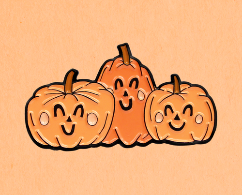 Happy pumpkins enamel lapel pin