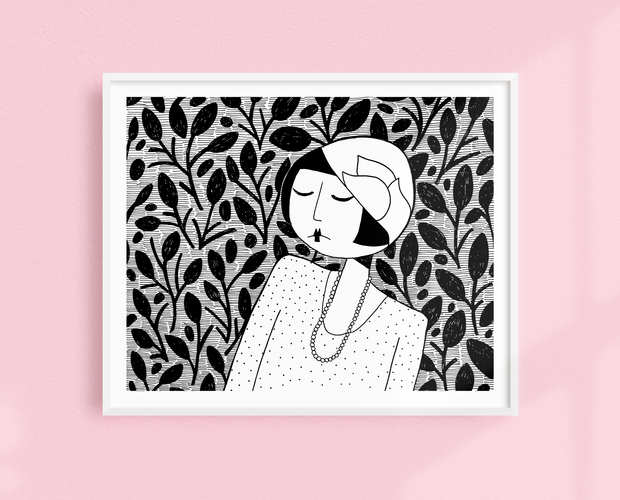 Ramona, lost in thought art print
