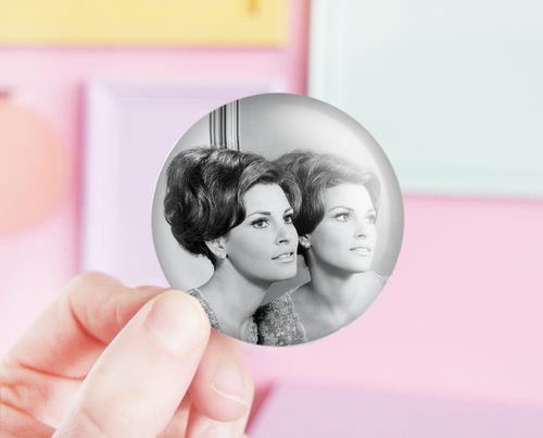 Raquel Welch pocket mirror