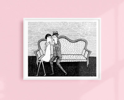 The Reading Lovers art print