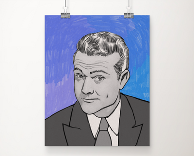 Red Skelton art print