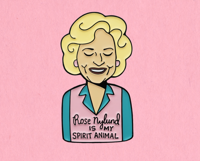 Rose Nylund enamel lapel pin