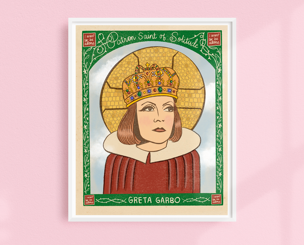 Saint Garbo art print